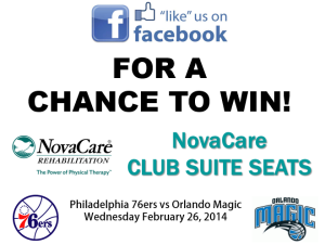 NovaCare Tickets